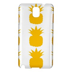 Fruit Pineapple Printable Orange Yellow Samsung Galaxy Note 3 N9005 Hardshell Case