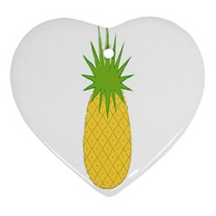 Fruit Pineapple Yellow Green Ornament (heart)