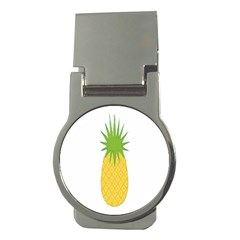 Fruit Pineapple Yellow Green Money Clips (round)