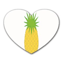 Fruit Pineapple Yellow Green Heart Mousepads by Alisyart