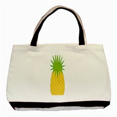 Fruit Pineapple Yellow Green Basic Tote Bag (two Sides) by Alisyart