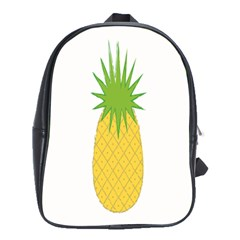 Fruit Pineapple Yellow Green School Bags(large)  by Alisyart