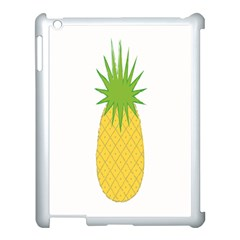 Fruit Pineapple Yellow Green Apple Ipad 3/4 Case (white)