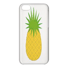 Fruit Pineapple Yellow Green Apple Iphone 5c Hardshell Case by Alisyart