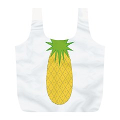 Fruit Pineapple Yellow Green Full Print Recycle Bags (l)