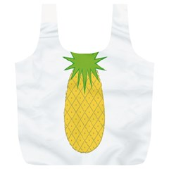 Fruit Pineapple Yellow Green Full Print Recycle Bags (l)  by Alisyart