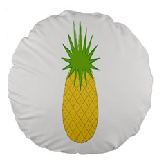 Fruit Pineapple Yellow Green Large 18  Premium Flano Round Cushions by Alisyart
