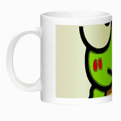 Frog Green Big Eye Face Smile Night Luminous Mugs by Alisyart