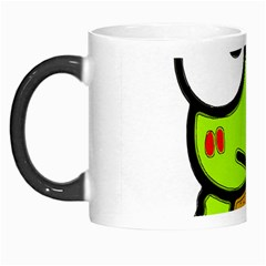 Frog Green Big Eye Face Smile Morph Mugs by Alisyart