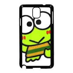 Frog Green Big Eye Face Smile Samsung Galaxy Note 3 Neo Hardshell Case (black)