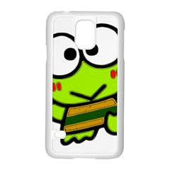 Frog Green Big Eye Face Smile Samsung Galaxy S5 Case (white)