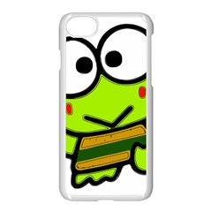Frog Green Big Eye Face Smile Apple Iphone 7 Seamless Case (white) by Alisyart