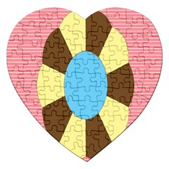 Garage Door Quilts Flower Line Jigsaw Puzzle (heart) by Alisyart