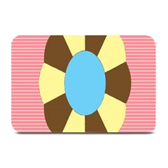 Garage Door Quilts Flower Line Plate Mats