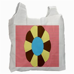 Garage Door Quilts Flower Line Recycle Bag (one Side) by Alisyart