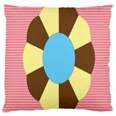 Garage Door Quilts Flower Line Large Cushion Case (two Sides) by Alisyart