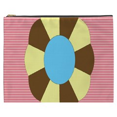 Garage Door Quilts Flower Line Cosmetic Bag (xxxl)
