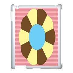 Garage Door Quilts Flower Line Apple Ipad 3/4 Case (white)