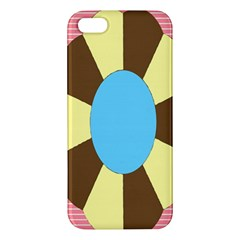 Garage Door Quilts Flower Line Apple Iphone 5 Premium Hardshell Case by Alisyart
