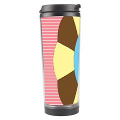 Garage Door Quilts Flower Line Travel Tumbler