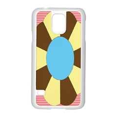 Garage Door Quilts Flower Line Samsung Galaxy S5 Case (white)