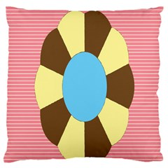 Garage Door Quilts Flower Line Large Flano Cushion Case (two Sides) by Alisyart