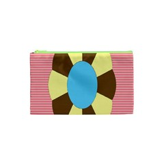 Garage Door Quilts Flower Line Cosmetic Bag (xs)