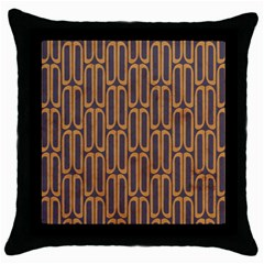 Chains Abstract Seamless Throw Pillow Case (black)