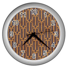 Chains Abstract Seamless Wall Clocks (silver)