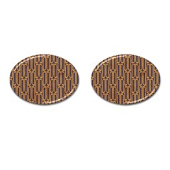 Chains Abstract Seamless Cufflinks (oval) by Simbadda