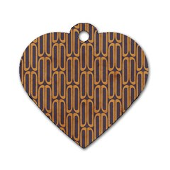 Chains Abstract Seamless Dog Tag Heart (one Side) by Simbadda
