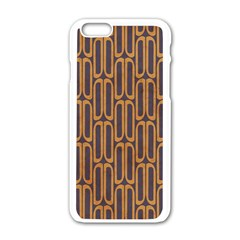 Chains Abstract Seamless Apple Iphone 6/6s White Enamel Case by Simbadda