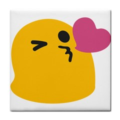 Happy Heart Love Face Emoji Tile Coasters by Alisyart