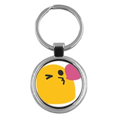 Happy Heart Love Face Emoji Key Chains (round)  by Alisyart