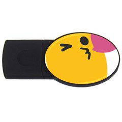 Happy Heart Love Face Emoji Usb Flash Drive Oval (2 Gb)