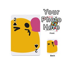 Happy Heart Love Face Emoji Playing Cards 54 (mini)  by Alisyart