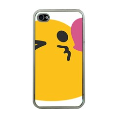 Happy Heart Love Face Emoji Apple Iphone 4 Case (clear) by Alisyart
