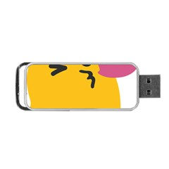 Happy Heart Love Face Emoji Portable Usb Flash (two Sides) by Alisyart