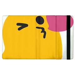 Happy Heart Love Face Emoji Apple Ipad 2 Flip Case by Alisyart