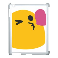 Happy Heart Love Face Emoji Apple Ipad 3/4 Case (white)