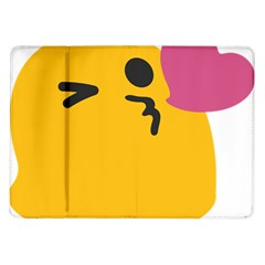 Happy Heart Love Face Emoji Samsung Galaxy Tab 10 1  P7500 Flip Case