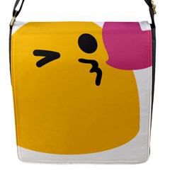 Happy Heart Love Face Emoji Flap Messenger Bag (s) by Alisyart