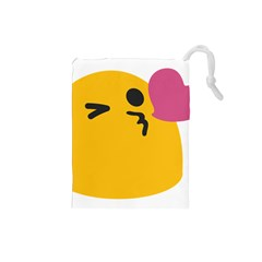 Happy Heart Love Face Emoji Drawstring Pouches (small)