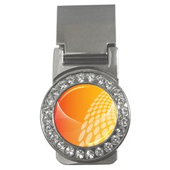 Abstract Orange Background Money Clips (cz)  by Simbadda