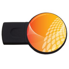 Abstract Orange Background Usb Flash Drive Round (4 Gb) by Simbadda