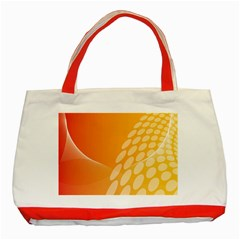 Abstract Orange Background Classic Tote Bag (red)