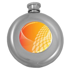 Abstract Orange Background Round Hip Flask (5 Oz) by Simbadda