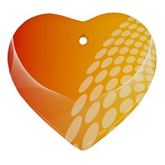 Abstract Orange Background Heart Ornament (two Sides) by Simbadda