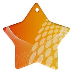 Abstract Orange Background Star Ornament (two Sides) by Simbadda