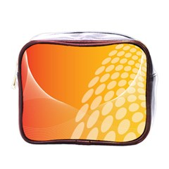 Abstract Orange Background Mini Toiletries Bags by Simbadda